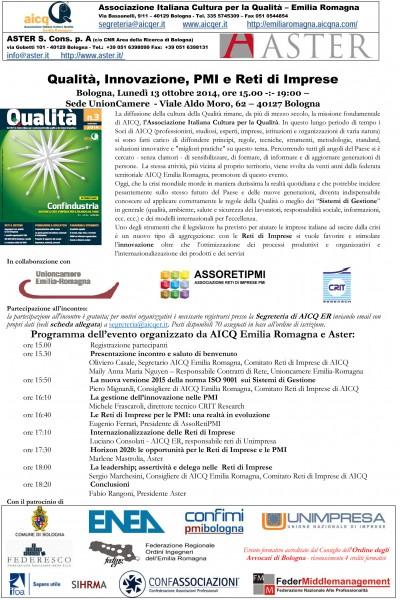 Microsoft Word - Convegno qualità innovazione PMI RdI  @ 13 Ott