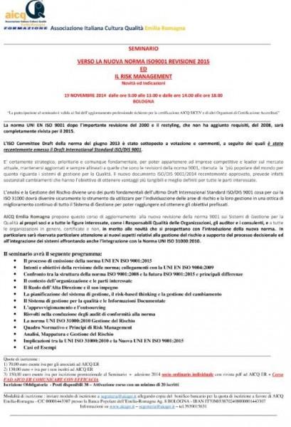 SEMINARIO_AICQ_ER_RISK_MANAGEMENT_NELLA_NUOVA_ISO9001_REVISIONE_2015-1