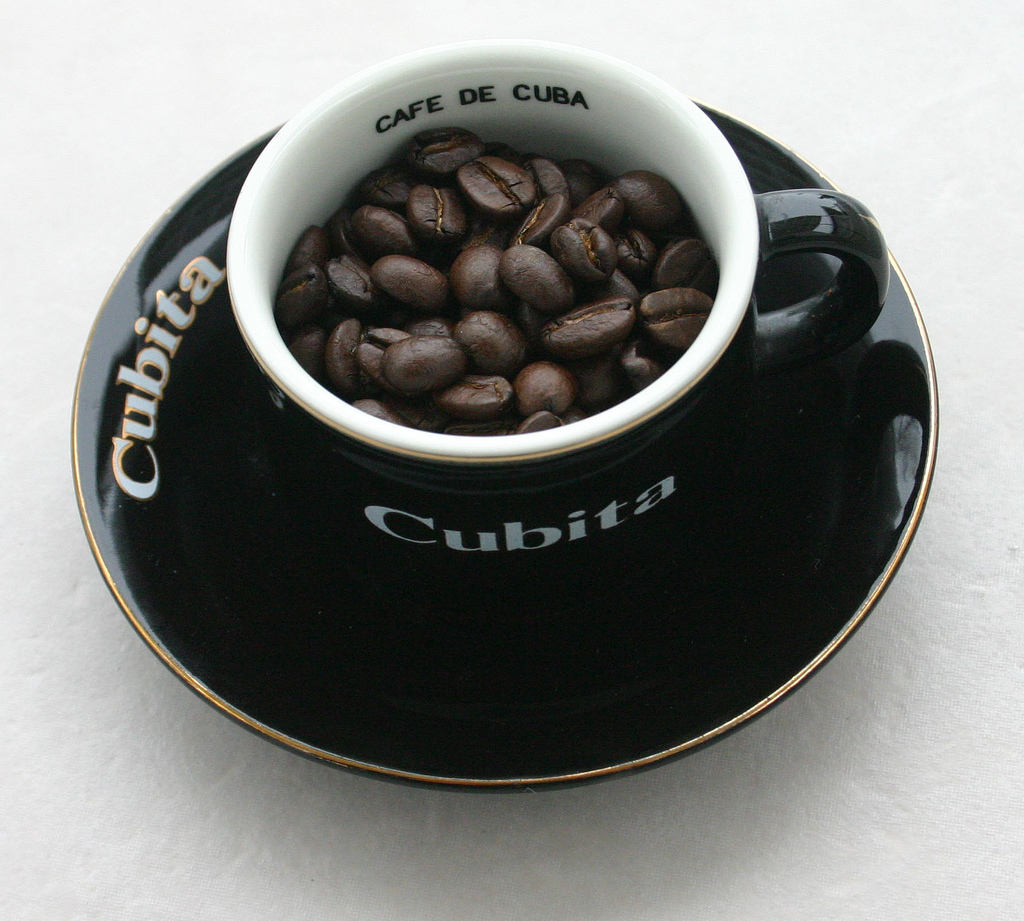 Cuban coffee in a Cubita espresso cup