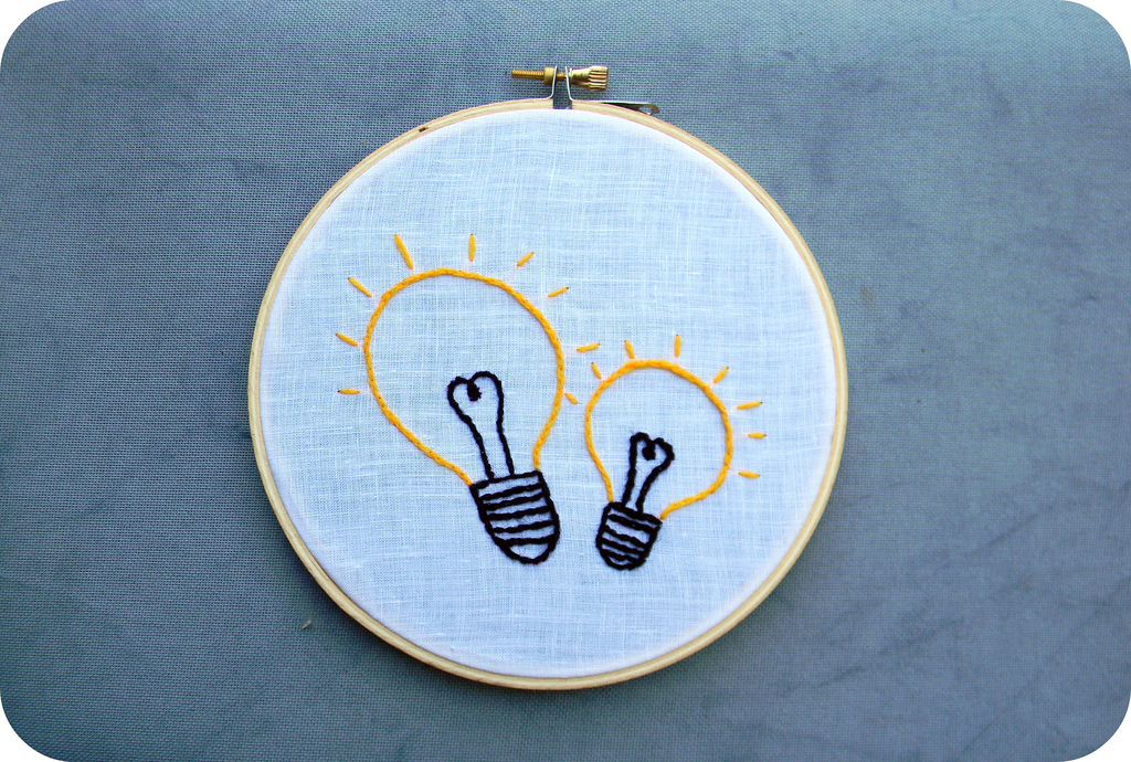 Light Bulb Embroidery