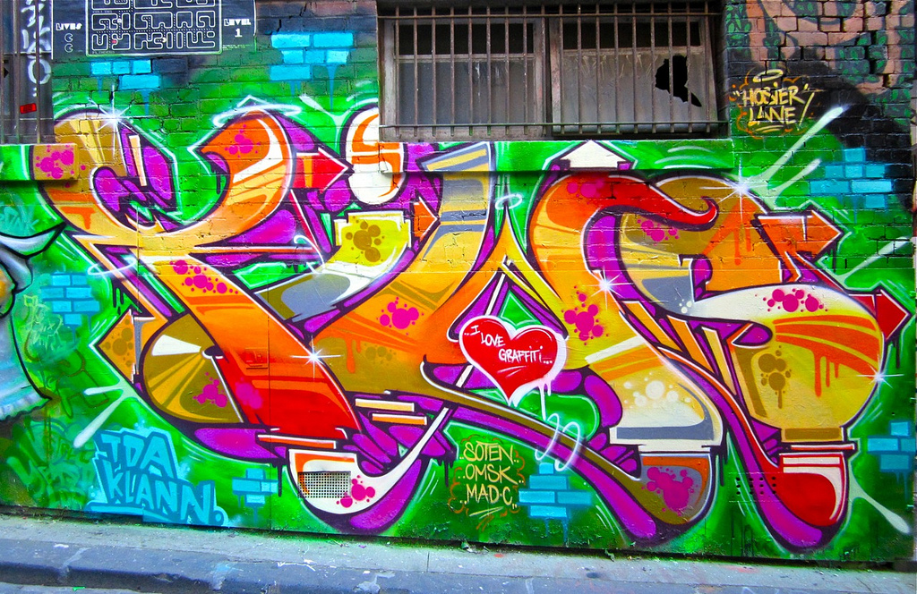 Melbourne, Hosier Lane 2012