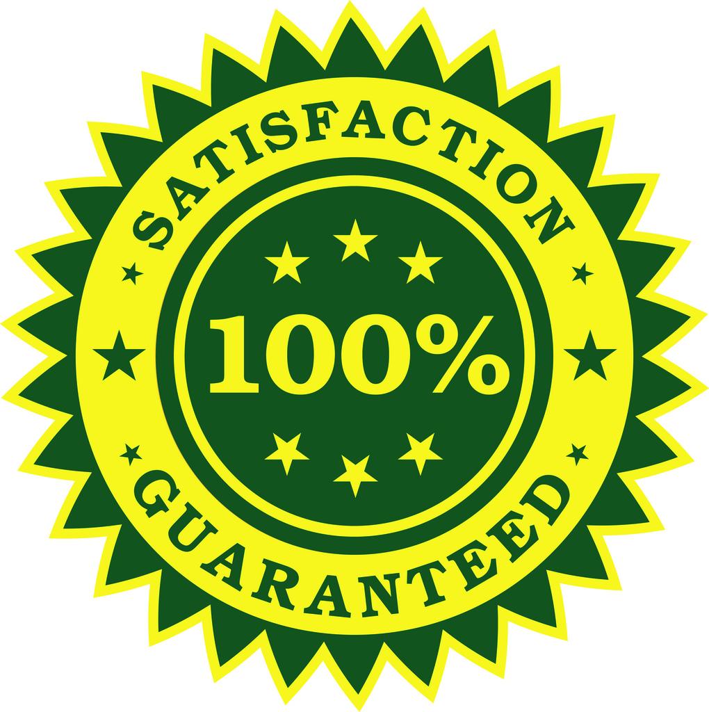 Satisfaction Guaranteed Sticker (Vector)
