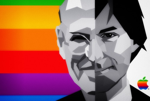 Steve Jobs Dies Aged 56 / Apple Shaped Full Stop