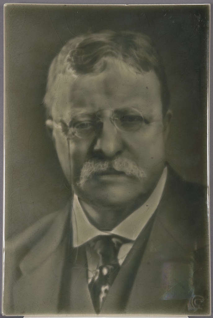 Theodore Roosevelt Ceramic Portrait Tile, 1916